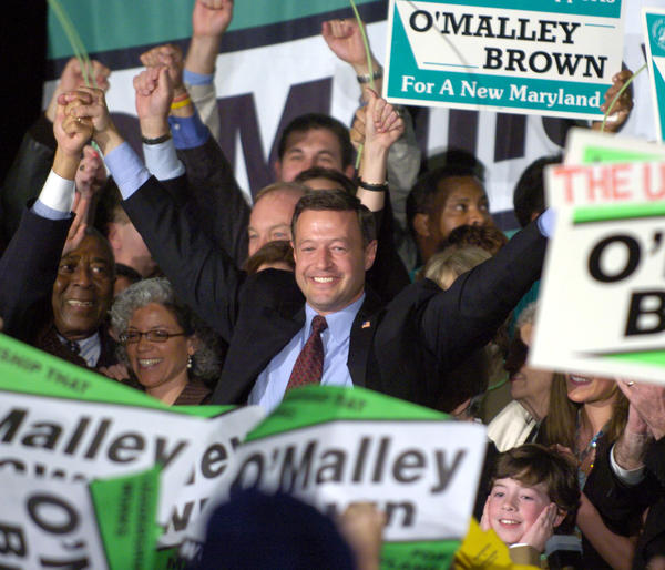 Election 2006 night at Democratic gubernatorial candidate Martin O'Malley's headquarter at the Hippodrome Theatre. Martin O'Malley celebrates his victory with supporters.