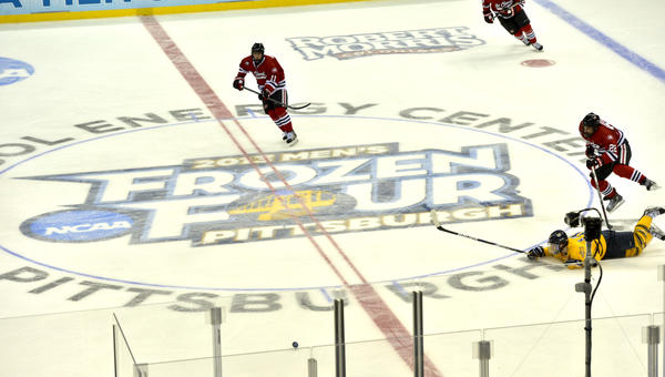 Quinnipiac beat St. Cloud State 4-1 in the Frozen Four Thursday at the Consol Energy Center in Pittsburgh.