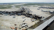 Four of the seven runways at O'Hare International Airport were affected when approach lights kept blinking off and on for about 40 minutes overnight, officials said.
