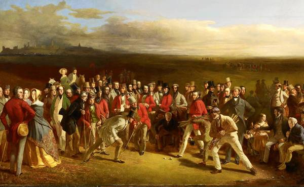 'The Golfers,' oil on canvas, 1847, by Charles Lees is the most celebrate image in all of golf. On display in 'The Art of Golf' at the Philadelphia Museum of Art, it is on loan from The Royal and Ancient Golf Club.