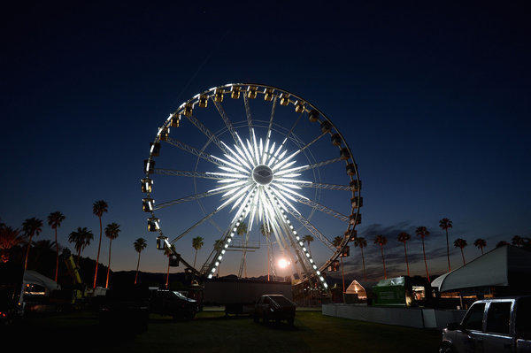 Facilities for the Coachella Valley Music and Arts Festival are set up at Indio's Empire Polo Field.
