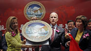 SHANGHAI, China -- Gov. Jerry Brown officially launched California's new trade and investment office here Friday, the first such office to open since the state shuttered a dozen outposts around the globe a decade ago.