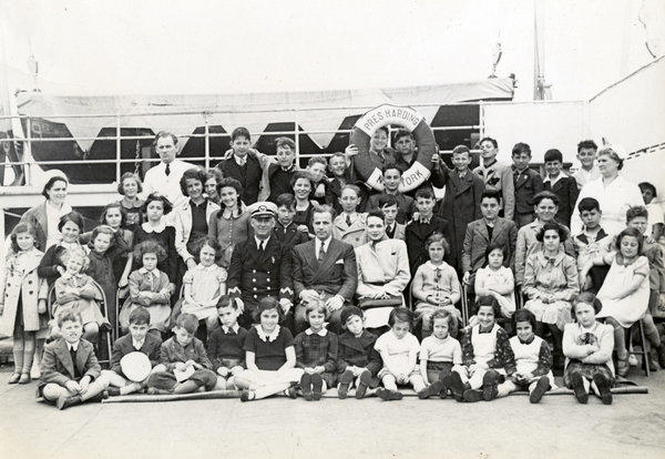 "Group photo of the children featured in the HBO documentary, ""50 Childdren: The Rescue Mission of Mr. and Mrs. Kraus."""