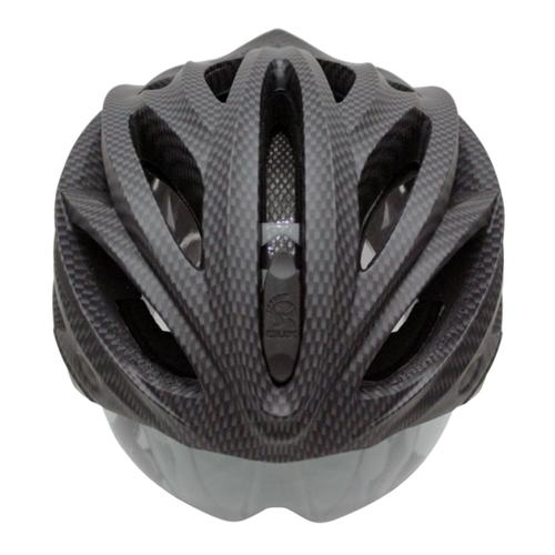 The Dux Helm Black Carbon helmet is the first to sport a built-in, retractable lens — something that most cyclists will want on the road.