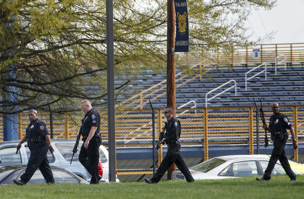 Greensboro and North Carolina A&T University police search the campus after a report of a man with a rifle in the area were received Friday.