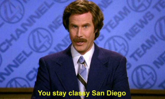 The Dodgers send a message to the Padres.