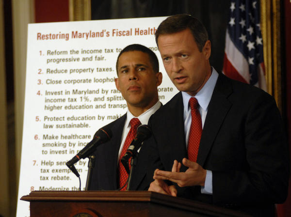 Governor Martin O'Malley holds a press conference with Lieutenant Governor Anthony Brown announcing plans for a special session.