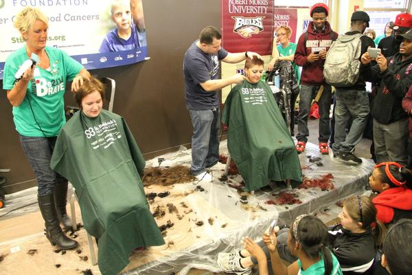 Robert Morris University Volleyball Goes Bald for Cancer ...