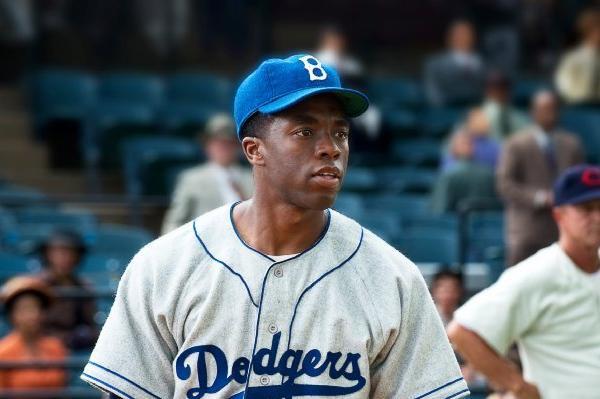 """Chadwick Boseman in """"42."""""""
