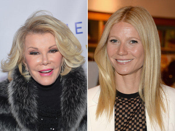 "Joan Rivers, 79, is taking 40-year-old Gwyneth Paltrow's ""crazy"" Botox jab in stride."