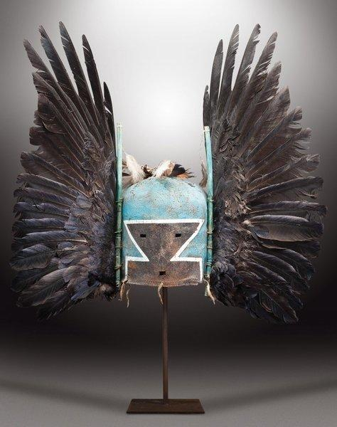 "This sacred Hopi ""Tumas Crow Mother"" mask was sold in a Paris auction that went forward Friday over objections from the Hopi tribe and U.S. government. Selling for $209,000, it was the most valuable of 70 Hopi masks that fetched $1.2 million overall."