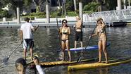 Even when the winds are favorable, the time-honored sport of standup paddleboarding can still be a rough pastime for an athlete. It can also be silly, which may be why at least four of the 48 expected standup paddleboarders competing at Sunday's Battle for the Paddle on Fort Lauderdale's New River have taken the added precaution of wearing thick, glorious mustaches.