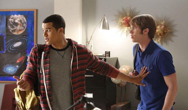 """""""Glee"""" stars Jacob Artist, left, and Blake Jenner."""