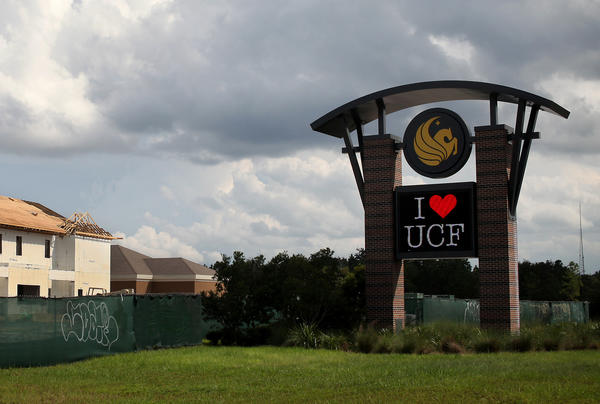 The UCF marquee displays school spirit in September 2012.