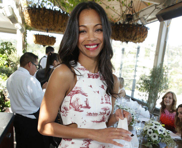 """""""I tend to recover, you know, healthy and smoothly"""" from heartbreak, Zoe Saldana tells Latina magazine."""
