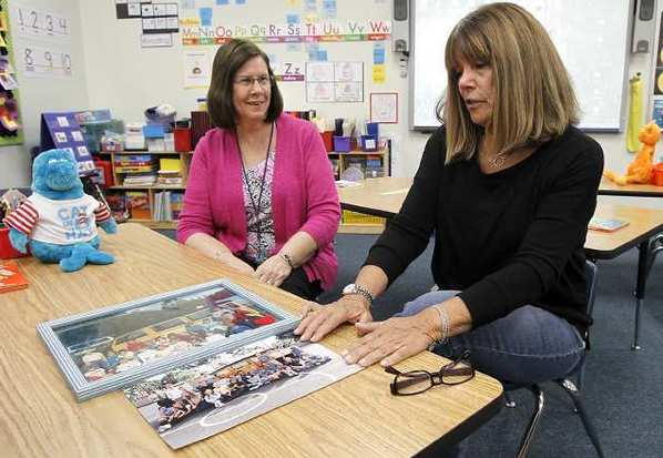 Kathy Hilts, left, and Susan Nielson, have worked and teached at Mariner's Christian School for 25 years. The school is celebrating its 25th anniversary next week.