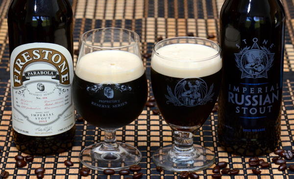 Stone Brewing's Imperial Russian Stout and Firestone Walker's barrel aged oatmeal stout Parabola will be released Monday.