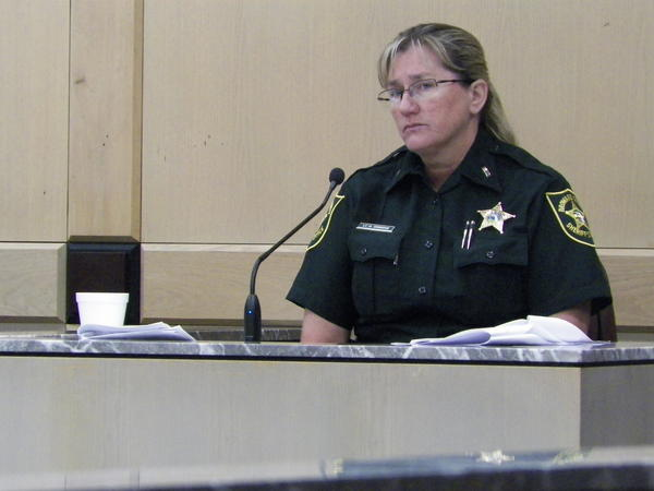 Broward Sheriff's Office Lt. Holly Greene tells jurors about the Internal Affairs investigation that led to the arrest of Deputy Jerry Wengert.