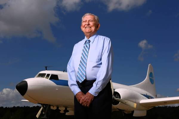 "92-year-old Capt. LeRoy Brown is the man responsible for that ""Pan Am"" plane parked at the Orlando Apopka Airport in Apopka."