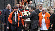 The funeral procession for Matthew Hersl crawled through the tight streets of Southeast Baltimore, moving past the Milan restaurant, the Inner Harbor Travel agency and the Little Italy parking garage. Steve Hersl, Matt's brother, blared his car horn as he inched along.