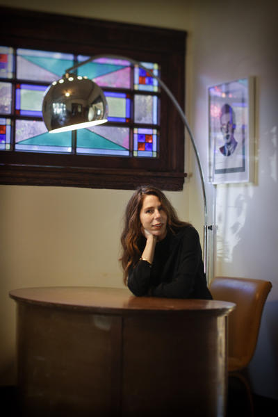 Novelist Rachel Kushner, photographed at her home in Los Angeles.