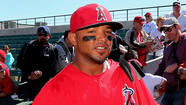 After losing two infielders to injury in the span of three days, the Angels called up Luis Jimenez from triple-A Salt Lake on Friday and immediately inserted him into the lineup.