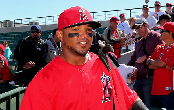 Angels' Luis Jimenez was called up from triple-A Salt Lake.