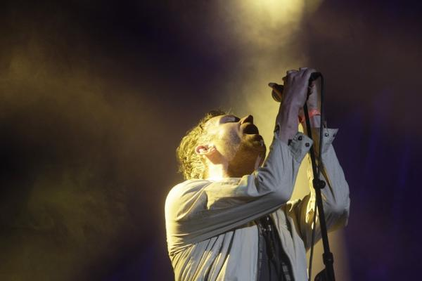 Damon Albarn of the band Blur performs at the14th annual Coachella Music & Arts Festival.