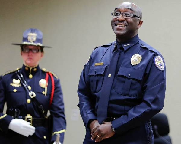 Sanford's new Police Chief Cecil Smith during his swearing in ceremony April 1.