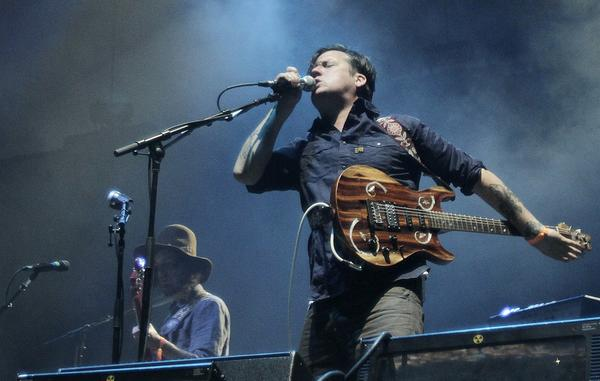Isaac Brock of the band Modest Mouse performs Friday night.
