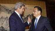 BEIJING -- After meeting with top Chinese leaders Saturday, Secretary of State John Kerry said  Beijing had pledged to work with the United States to urge North Korea to abandon its nuclear weapons.