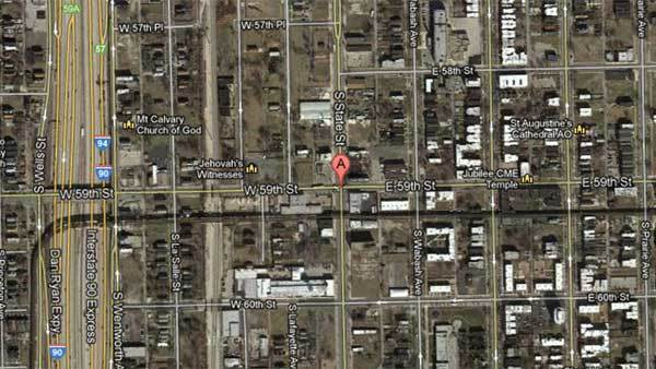Satellite map of 5900 S. State St.