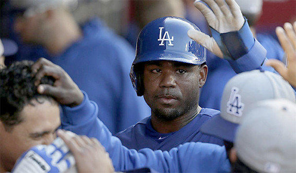 Carl Crawford is batting .412 entering weekend play. He and Adrian Gonzalez are carrying the Dodgers' offense so far this season.
