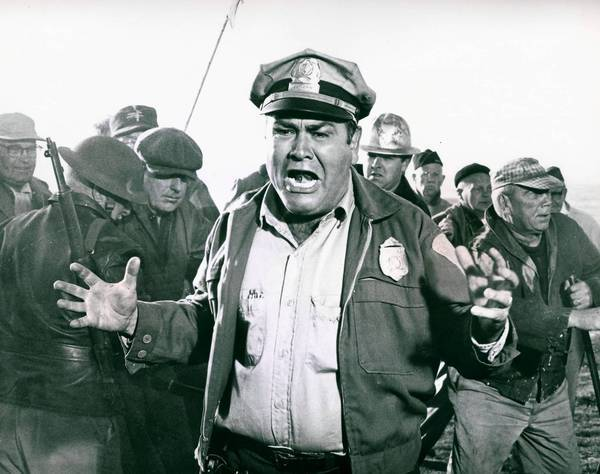 "Jonathan Winters stars in the comedy-drama ""The Russians Are Coming, the Russians Are Coming."""