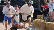 Makeshift chariot race event featured at JHU Spring Fair