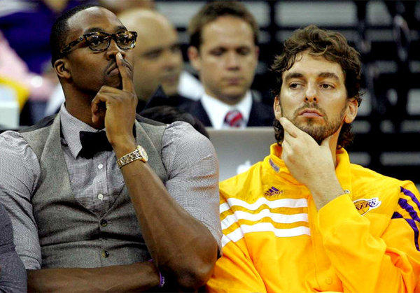 With Kobe Bryant out the rest of the season, Lakers big men Dwight Howard and Pau Gasol will get what they've been asking for all season: more touches.