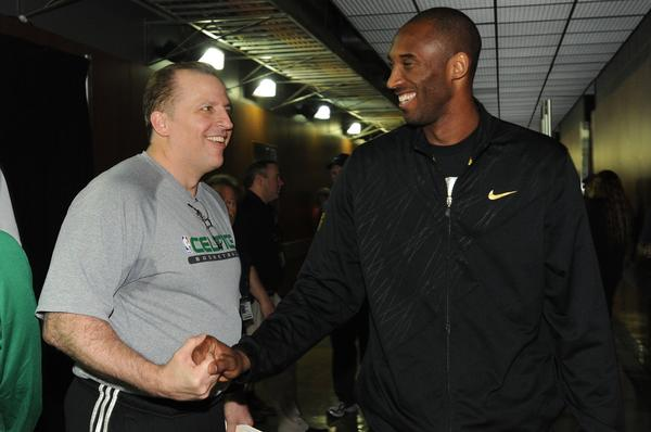 Kobe Bryant with Tom Thibodeau in 2010.