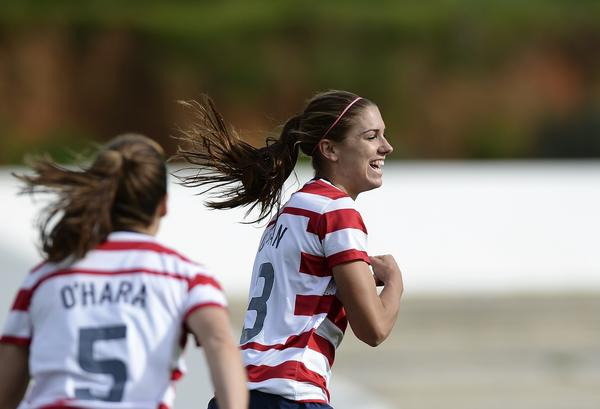 Alex Morgan is one of several players who could make more money in Europe but have opted to stay in the U.S. to help the National Women's Soccer League get off the ground.
