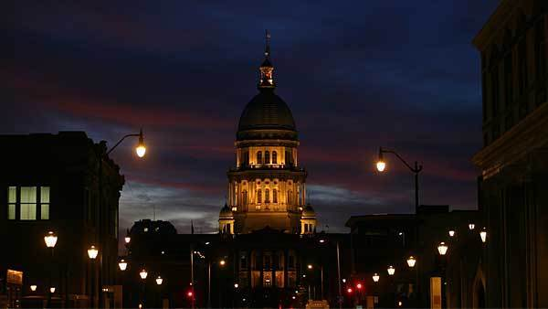 The Illinois State Capitol Building in Springfield on Oct. 24, 2011.