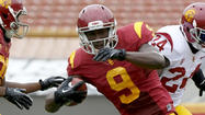 USC concluded spring practice Saturday with a Coliseum scrimmage devoid of tackling.