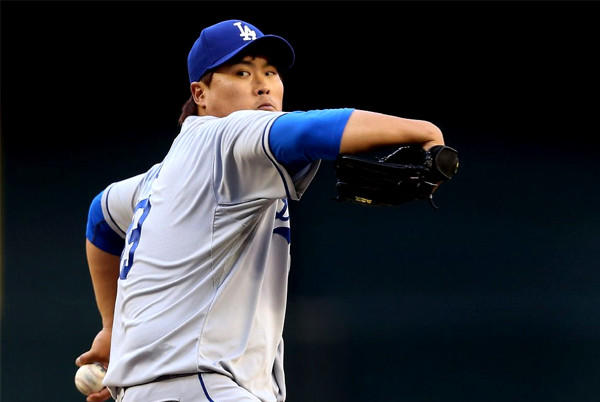 Hyun-Jin Ryu allowed three runs on six hits over six innings. He also went three for three at the plate and scored a run.