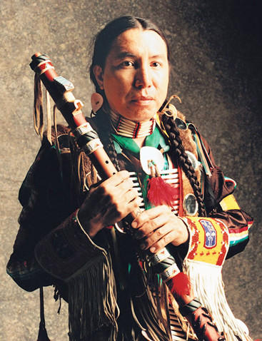 Bryan Akipa, who performs Saturday in Sisseton, is an award-winning traditional American Indian flute player. He makes his own flutes.