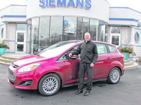 The EcoGuide on the new C-Max Energi helps coach drivers on how to make the most out of its energy efficiencies, said James Hayes, a sales consultant with Siemans in Bridgman.