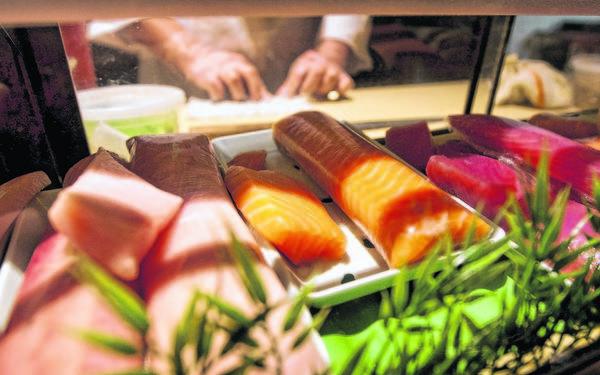 Sushi is prepared inside Soho Japanese Bistro in Granger on Thursday, April 11, 2013.