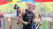 Geneva's Ben Kanute won both the Olympic distance and sprint races at the Collegiate Triathlon Championships this weekend in Tempe, Arizona.