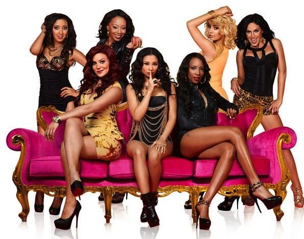 "The ""Bad Girls Club"" cast from Season 10 in Atlanta: Janae (top from left), Paula, Nicole, Shannon; Alicia (bottom from left), Stephanie, Valentina"