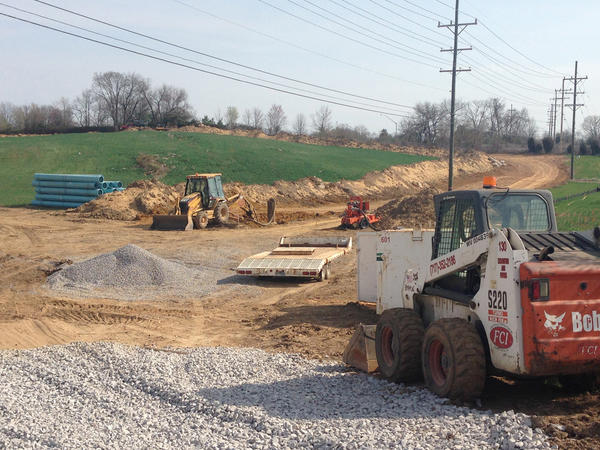 Work is under way for a planned sewer project that has been in the works for several years on Downsville Pike (Md. 632).