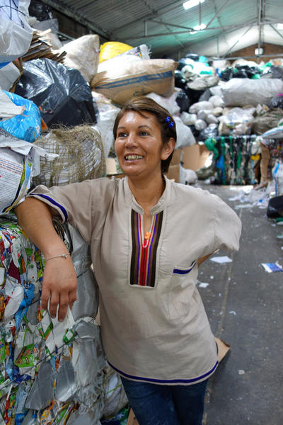 Nohra Padilla, who heads the Assn. of Bogota Recyclers, has won a $150,000 Goldman Environmental Prize for her work in promoting recycling.