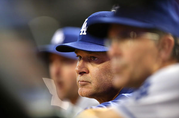 Manager Don Mattingly watches the Dodgers play against the Diamondbacks this weekend, their series between matchups against the San Diego Padres.