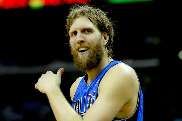 Dirk Nowitzki against the New Orleans Hornets during the second half.